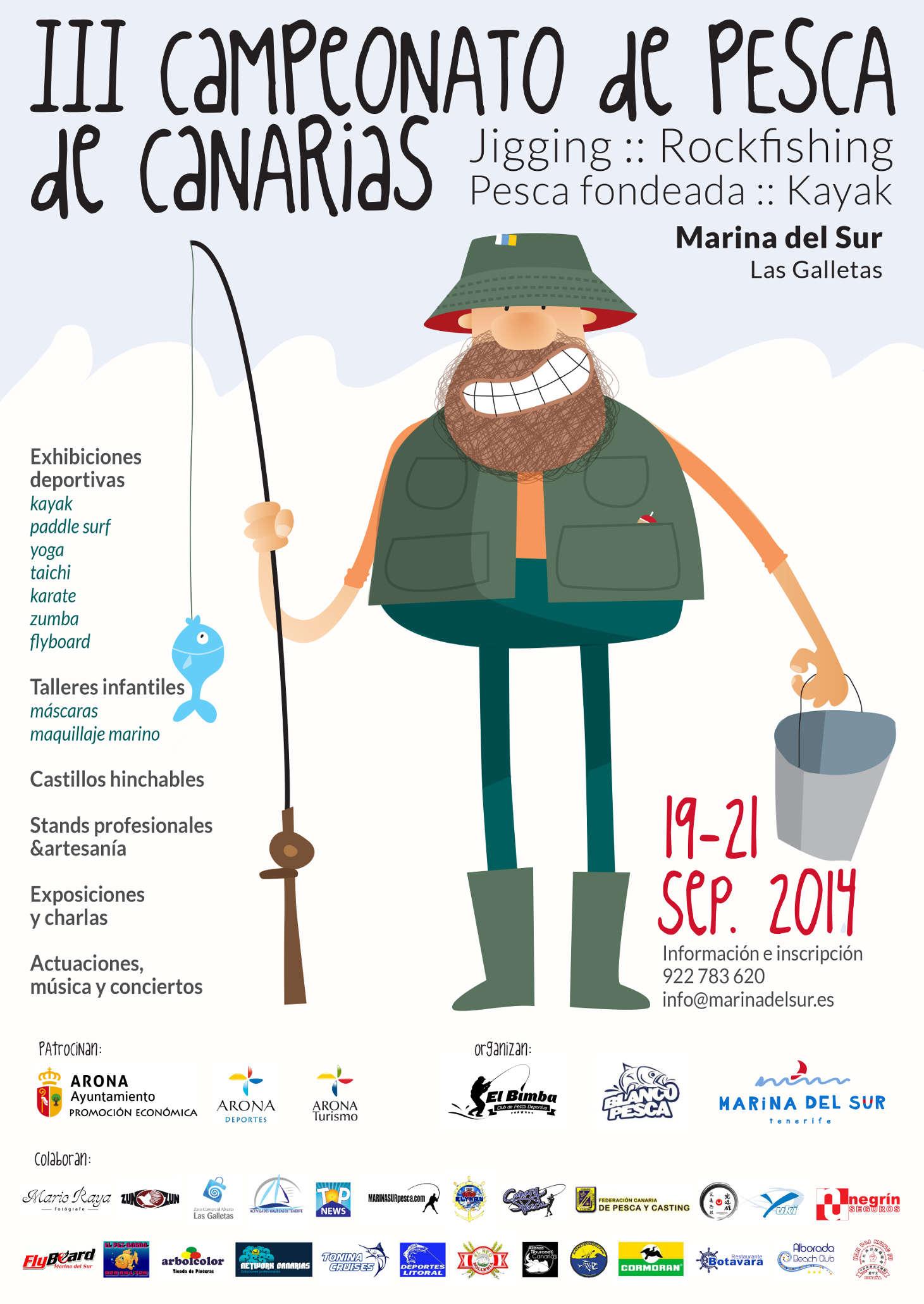 cartel Campeonato de Pesca de Canarias