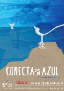 Cartel web Conecta con el azul