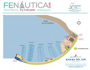 plano del puerto - Marina del Sur